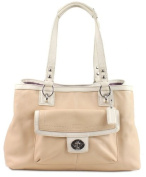 Coach Penelope Soft Pebbled Leather Carryall Satchel Bag 19044 Putty White