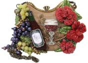 Mary Frances Perfect Pairing Wine Tan Convertible Clutch Handbag