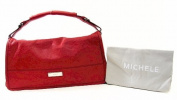 Michele Collins Horizontal Carnet Dark Red Flap Bag Handbag