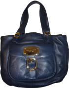 Women's Michael Kors Purse Handbag Hudson Navy HD Large Tote Genuine Leather
