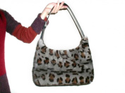 Blue Iris Full Skin Mink Animal Print Handbag