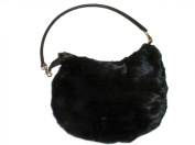 Black Sheared Full Skin Mink Oversize Hobo Bag