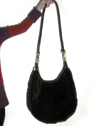 Brown Sheared Full Skin Mink Oversize Hobo Bag