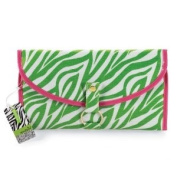 Green Zebra Hanging Travel Case