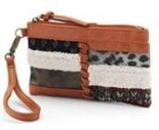 Mudd Kelly Sheepskin Wristlet Tan
