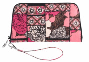 Vera Bradley Zip Around Wristlet in Mocha Rouge