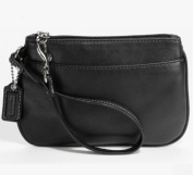 Coach Leather Small Wristlet Case for iPhone Bag 45651 Black