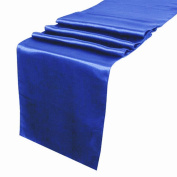 OurWarm Royal Blue Satin Table Runner 30.5cm x 274.3cm (Inch) Wedding Party Table Decoration