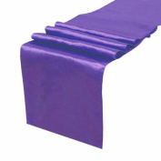 OurWarm Purple Satin Table Runner 30.5cm x 274.3cm (Inch) Wedding Party Table Decoration
