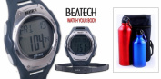 Sopra Beatech BH5000B FL55 Beatech Heart Rate Monitor-Alarm clock-Stopwatch-Countdown Timer Watch with Aluminium Camping Bottle Set