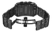 Burberry Men's BU1563 Square Grey Chronograph Dial Black Bracelet Watch