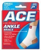 ACE 207300 Woven Cotton Ankle Br - Size- Small -7-8 in.