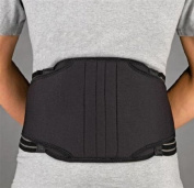 FLA Orthopaedics FL31-722MDBLK PROLITE 22.9cm . Neoprene Lumbar Sacral Back Support - Size- Medium -33 - 91.4cm .
