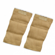 Como Pair Sports Protecting Elastic Magnetic Knee Support Sleeve Brace Light Brown