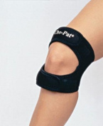Cho-Pat Dual Action Knee Strap - Black Medium 30cm - 41cm