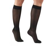Truform 1773, Women's Compression Stockings, Knee High, Sheer, 15-20 mmHg, Large, Black