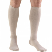 Truform 1943, Men's Dress Style Compression Socks, 15-20 mmHg, Knee High, Tan, X-Large