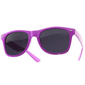 1980's Wayfarer Style Fashion Sunglasses with Dark Lens - Purple