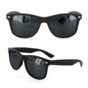 New Matte Soft Touch Black Wayfarer Sunglasses Dark Lens Retro 80s Vintage Fashion Shades