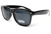 Vintage Retro Nerd 80s Wayfarer Sunglasses Mens Womens Unisex Black W10