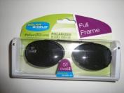 Solar Shield Polarised Clip On Sunglasses 51Oval2 full frame Grey lens