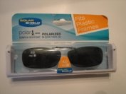 Solar Shield size 49 Rec B fits plastic frames Grey Lens Polarised Clip on Sunglasses