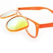 HOTLOVE Premium Quality Plastic Sunglasses UV400 Lens Technology - Wayfarer Sunglass 300 Orange Frame 2 layer Style Fashion Sunglasses - Trendy Unisex Styles