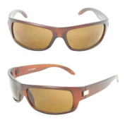 Wrap Sport Sunglasses 399 Brown Matte Frame Brown Lens for Men