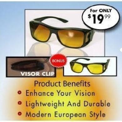 Hd Vision Combo Pack Night Vision and Day Vision + Visor Clip