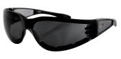 Bobster Eyewear Shield II Sunglasses Black/Smoke Lens ESH201