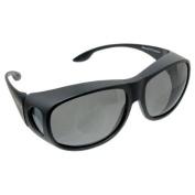 Solar Shield Fits Over Sunglasses Grey
