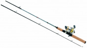 Daiwa D-Turbo 3+1 Ball Bearing Medium Light Spincast Combo, 2 Piece