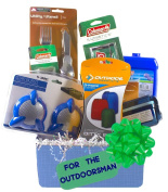 "Gifts for Him, ""The Great Outdoors"" Gift Basket, 18 Piece Gift Set - Hunting, Fishing, Camping"