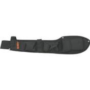 Marble Knives 33514S Bolo Camp Knife Belt Sheath with Heavy Black Nylon Construction w/ Orange Embroidered Marbles Logo