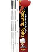 Campfire Hot Dog & Marshmallow Roasting Forks Sticks 8 Pack