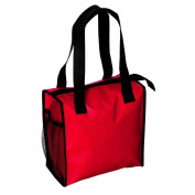 Zipper Insulated Cooler Lunch Bag, Red by BAGS FOR LESSTM