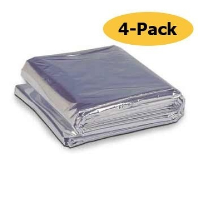 Emergency Thermal Blanket 132.1cm x 213.4cm (4 Pack)