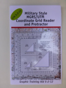 Military Style MGRS/UTM Coordinate Grid Reader & Protractor