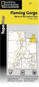 National Geographic TI00000704 Map Of Flaming Gorge-East Uintas - Utah