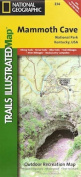 National Geographic TI00000234 Map Of Mammoth Cave National Park - Kentucky