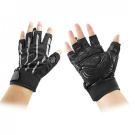 Como Pair Black Grey Neoprene Fingerless Sports Gloves for Men