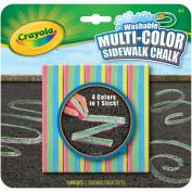 Washable Sidewalk Chalk 4 Colors in 1, Assorted, 5 per Set