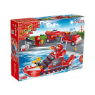 BanBao Fire Car and Ship set
