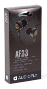 Audiofly AF331-0-01 33 Series Noise-Isolating Earphones- Slycat Black