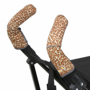 City Grips Stroller Grip Covers, Leopard, Double Bar