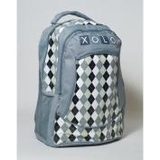 XOLO Backpack - Grey Argyle