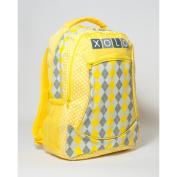XOLO Backpack - Yellow Argyle
