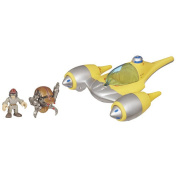Playskool Heroes Star Wars Jedi Force - Naboo Starfighter with Anakin Skywalker and Destroyer Droid