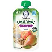 Gerber Organic 2nd Foods Pouches Pear Peach Oatmeal - 100ml