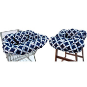 Itzy Ritzy GC8058 Ritzy Sitzy Shopping Cart and High Chair Cover - Social Circle Blue